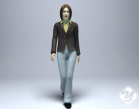 Office lady for 3ds Max animated