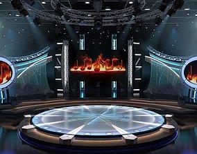 Virtual TV Studio Entertainment Set 5 3D