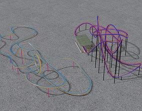 3D model TWO Rollercoaster