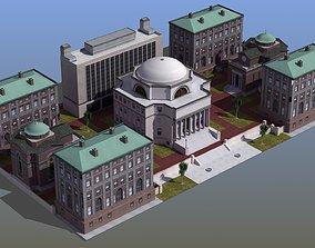 University Campus 3D asset