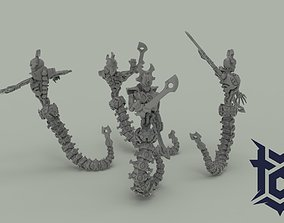 NECRO FEMALE RIPPERS PRE-SUPPORTED 3D printable model