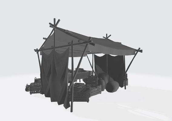 medevil food stand