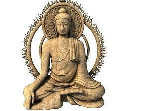 Buddha 3D model east