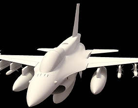 F 16 -4 variants 3D model