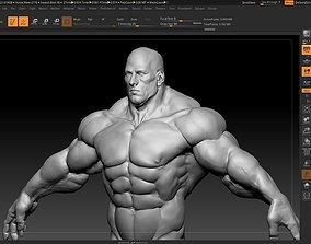 hulk like human male 3D model