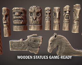 Wooden statues 3D model