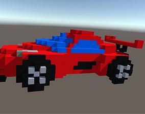Agera R Sports Car 3D Voxel Art Model VR / AR ready