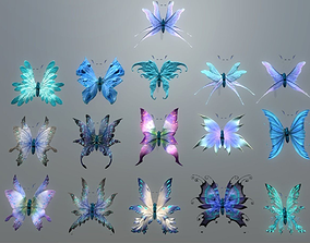 3D asset VR / AR ready Butterflies 2 Animated