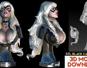 Black Cat from Batman Bust STL-OBJ 3D model Fanart 1