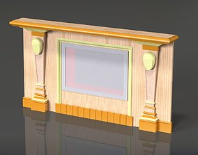 3D Fireplace portal architecture