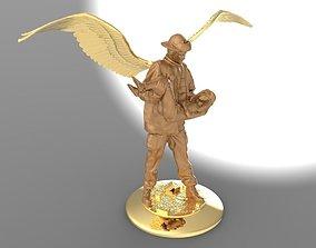 Firefighter Angel 3D printable model burn