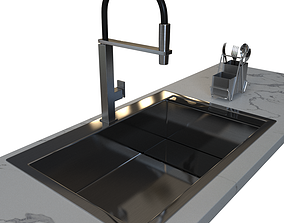 3D model Sink Franke CLV 210 and Faucet Franke Centinox
