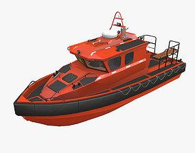 Rescue Motor Boat 3D asset