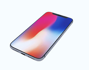 3D model glass Iphone X