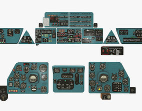 Mi-8MT Mi-17MT Panels Boards Russian 3D model