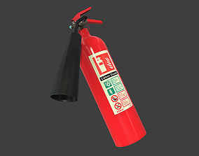 Fire Extinguisher part 3D model realtime