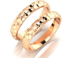 women 3D print model Voronoi wedding rings