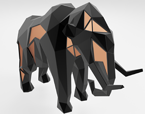 3D printable model Polygonal Mammoth Parametric