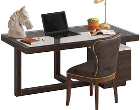 Coco Republic Toledo Desk and Richmond Chair 3D