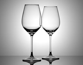 Wine Glass 3D model animated