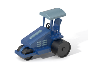 Classic Road Roller Machine 3D print model