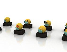 realtime Emoji 3d ad for coronavirus