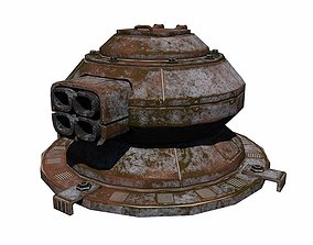 Sci Fi Turret 3D asset