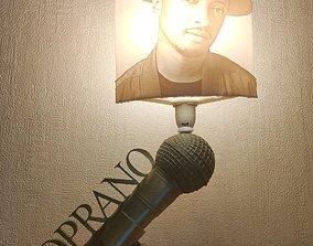 3D print model Lampe soprano pied et litophane e14