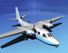 Rockwell Aero Commander 560 V06 3D model