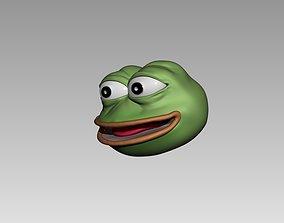 3D print model pepe the frog keychain