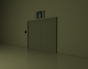 Elevator scene 3D model
