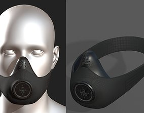 Gas mask respirator scifi futuristic 3D asset