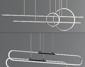 3D Chute Calypso Linear Suspension Light Collection