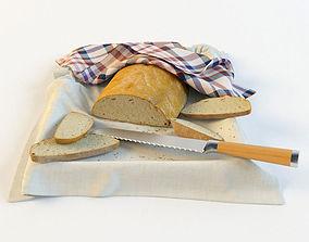 3D model bread