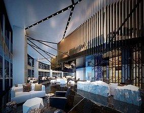 hotel Lobby 01 3D model