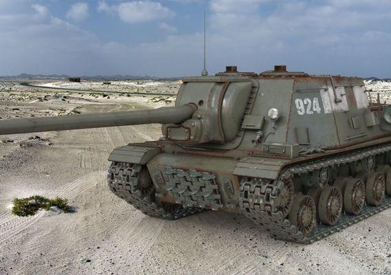 Tank ISU 122 Russian Vray