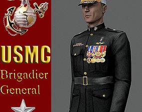 US Marine Corps Brigadier General 3D asset