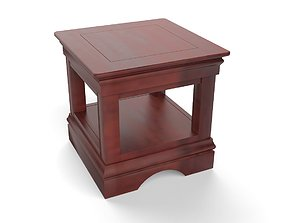 Oak Side Table 3D asset realtime