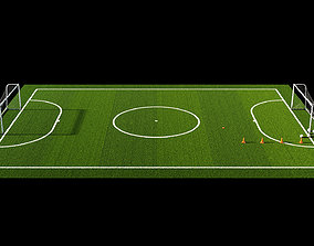 3D model rigged Football field