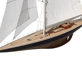J-Class Yacht ENDEAVOUR JK4 3D model
