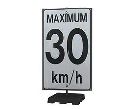 Street Sign 09 3D asset