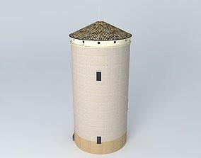 Water tower overlooking Tournus 3D model