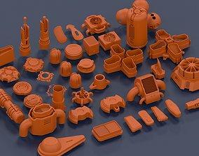 clasps Pack Kitbash 3d model details