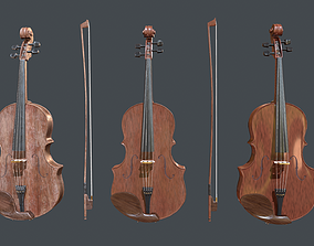 Violin pbr Game Ready 3D asset