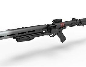 3D model Death trooper blaster rifle E-11D Rogue One A 2