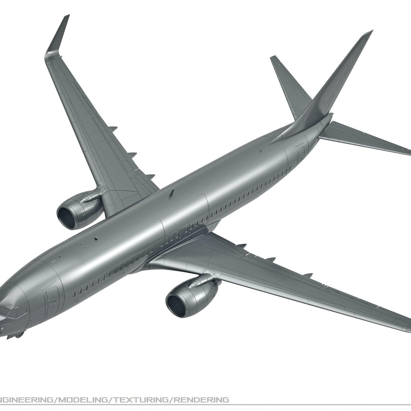 Model (designer) aircraft B-737-800