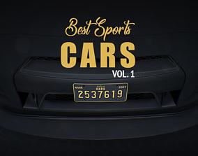 3D model rigged Best Sports CARS vol 1