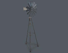 3D model game-ready Windmill Game Ready PBR