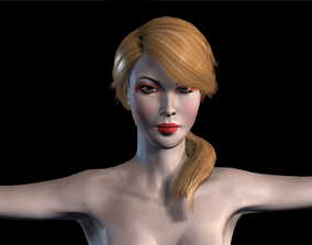 3D model animated Naked Girl
