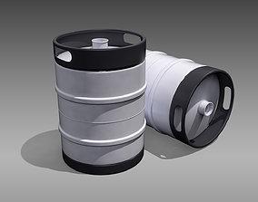 Keg Half Barrel 3D asset